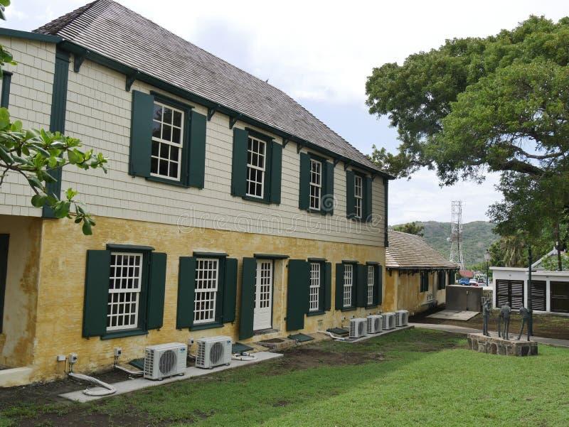 Oranjestad in Statia immagini stock libere da diritti