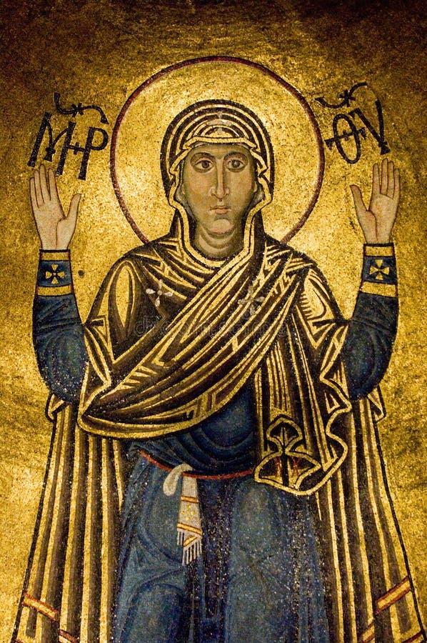 Oranta (Jungfrau Maria) lizenzfreie stockfotografie