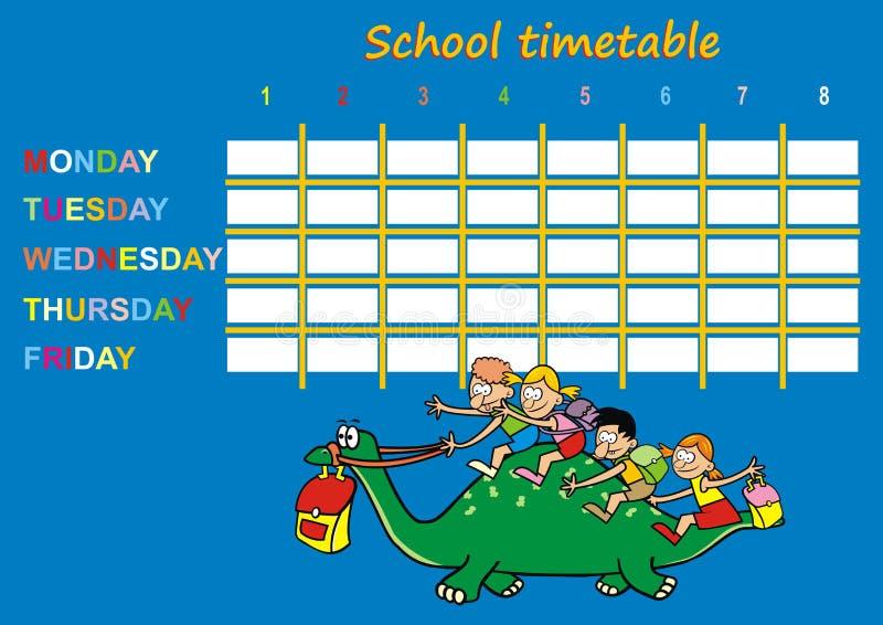 Orario della scuola, dinosauro royalty illustrazione gratis