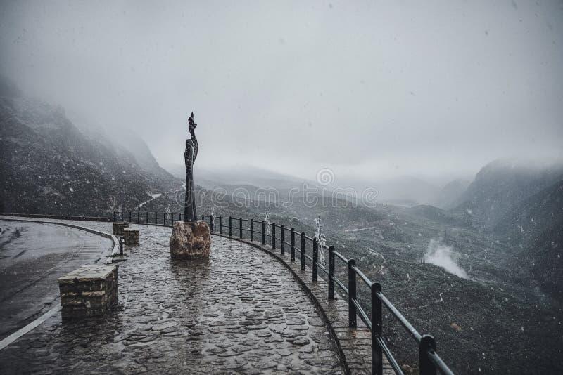 Orario invernale della montagna del punto di riferimento di Delphie fotografia stock libera da diritti