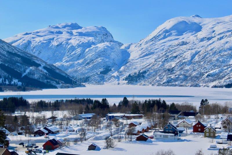 Orario invernale in Røldal, Norvegia immagini stock