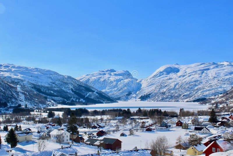 Orario invernale in Røldal, Norvegia fotografia stock libera da diritti
