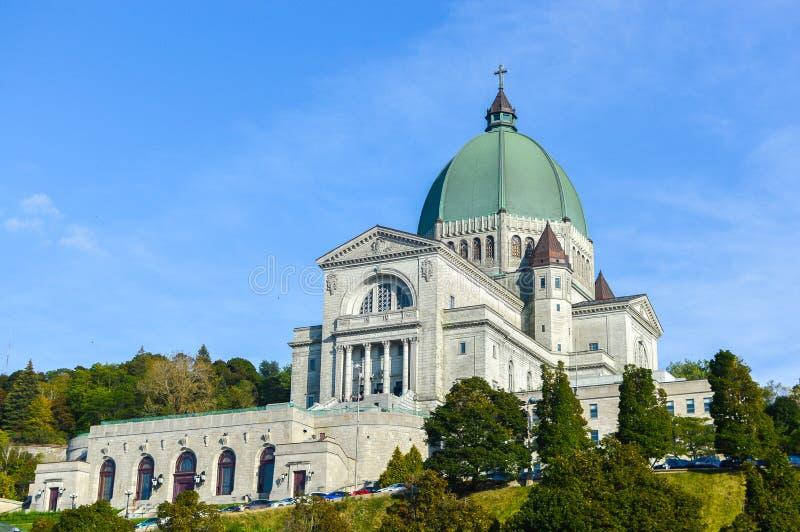 Oratória do ` s de Saint Joseph de real da montagem situado em Montreal imagens de stock royalty free