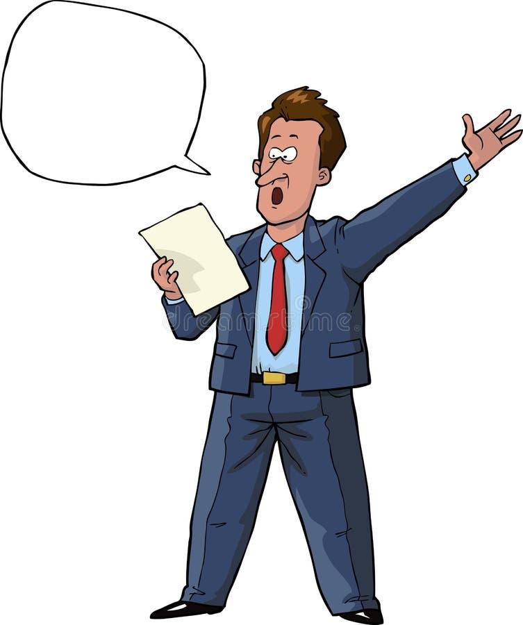 orateur illustration de vecteur