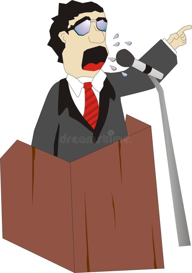 Oratore illustrazione di stock
