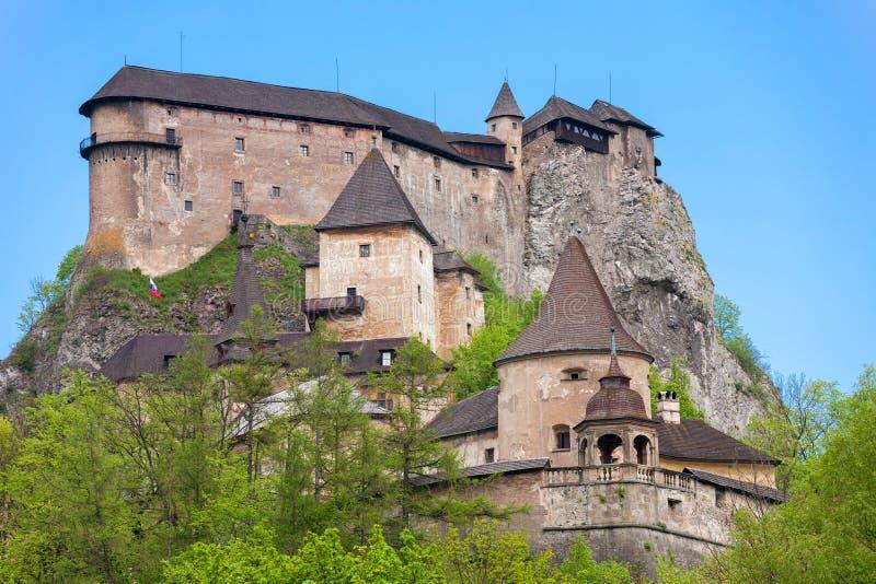 Orava Casle, Slovakia. The Famous Oravsky Podzamok (Orava Castle) in Slovakia. The Orava Castle is the one of the most beautiful castle in Slovakia stock photo