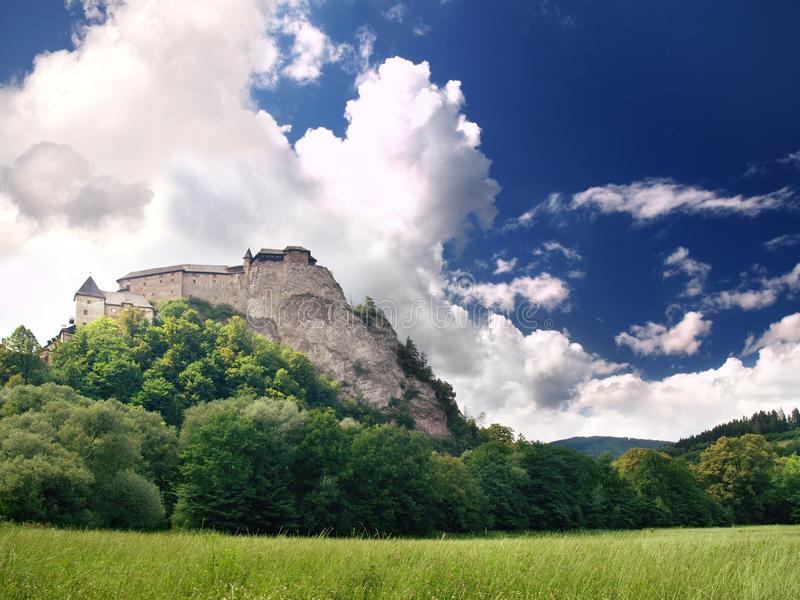 Orava Castle. A view of famous Orava Castle in summer. Orava Castle is considered to be one of the most interesting castles in Slovakia. This castle is situated royalty free stock image