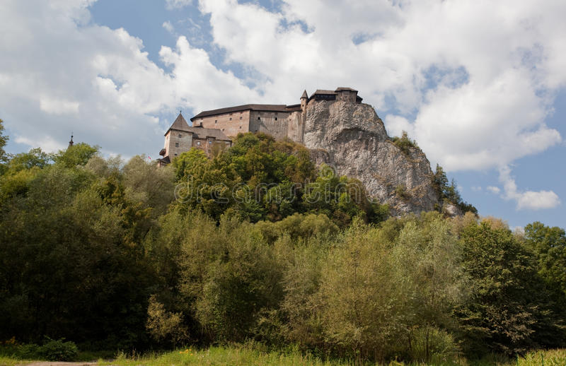 Orava Castle. In summer, Slovakia, Europe royalty free stock image