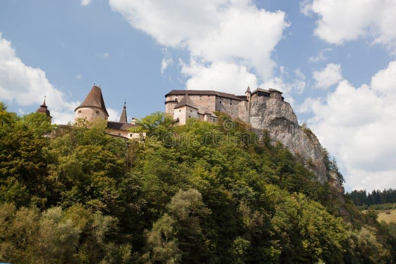 Orava Castle. In summer, Slovakia, Europe stock photography