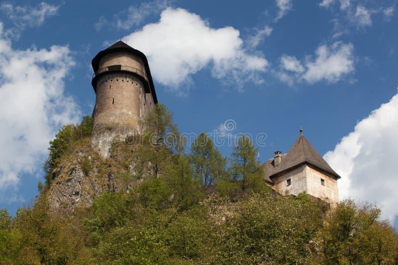 Orava Castle. In summer, Slovakia, Europe royalty free stock photos