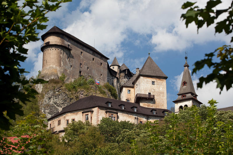 Orava Castle. In summer, Slovakia, Europe stock images
