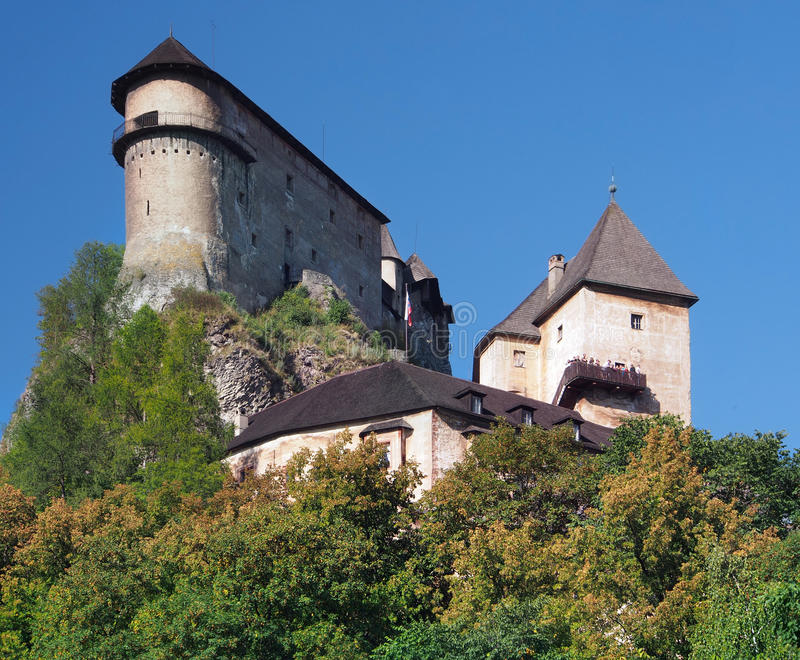 Orava Castle on a high rock, Slovakia royalty free stock photography