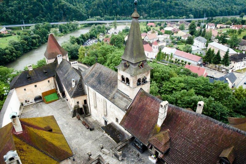 Orava Castle - Slovakia. Medieval Orava Castle in Slovakia stock images