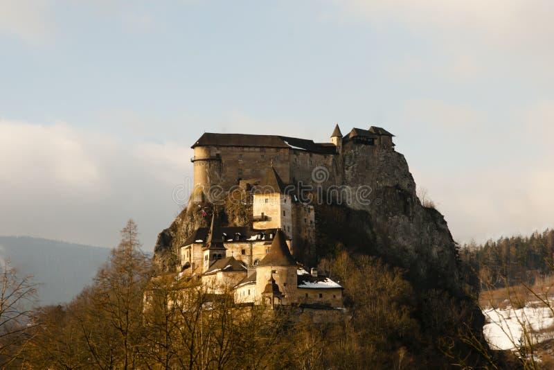 Orava Castle - Slovakia. Medieval Orava Castle in Slovakia royalty free stock photography