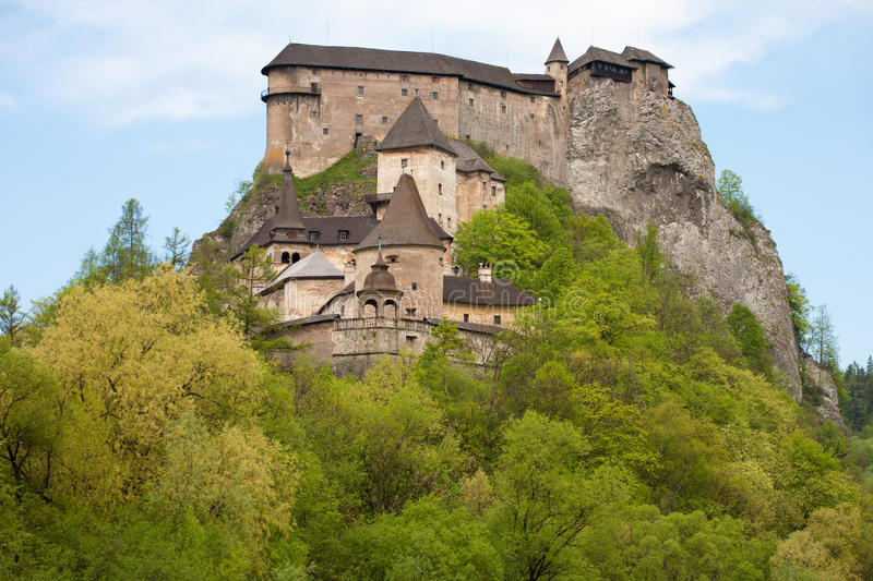 The Orava Castle, Slovakia stock photography