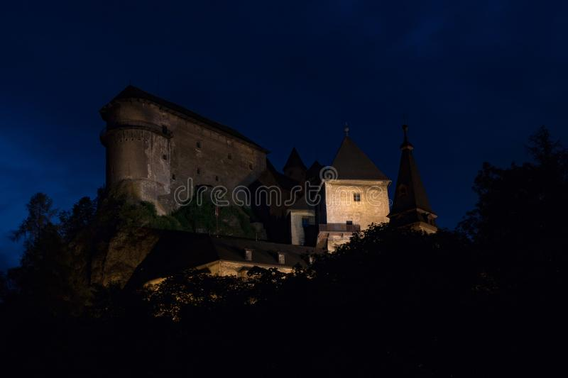 Castle in the night royalty free stock photo