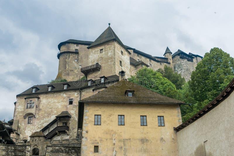 Orava castle whole stock photos