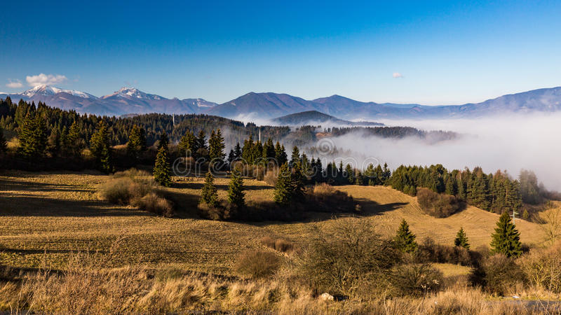 Orava nature overlook. From Valaska Dubova in Slovakia royalty free stock image