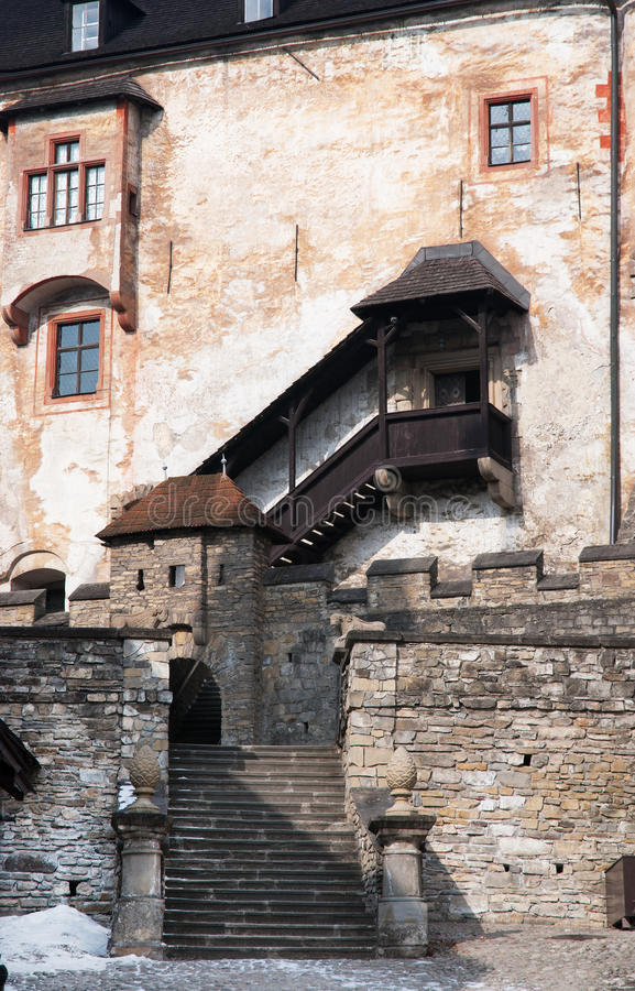 Orava-Schloss, Slowakei stockfotos