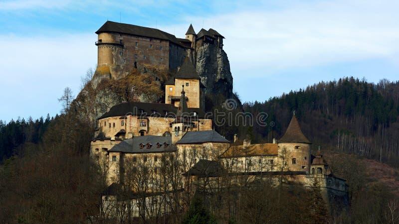 Orava-Schloss, Slowakei stockbilder