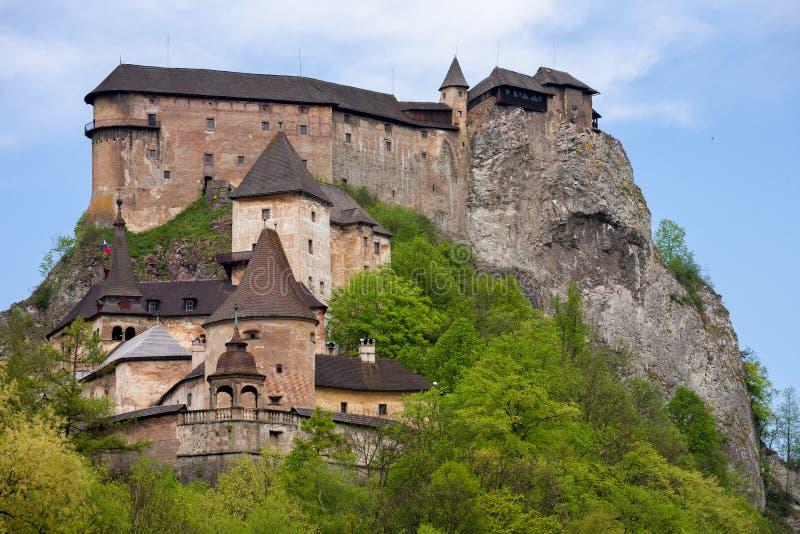 Orava slott i Slovakien fotografering för bildbyråer