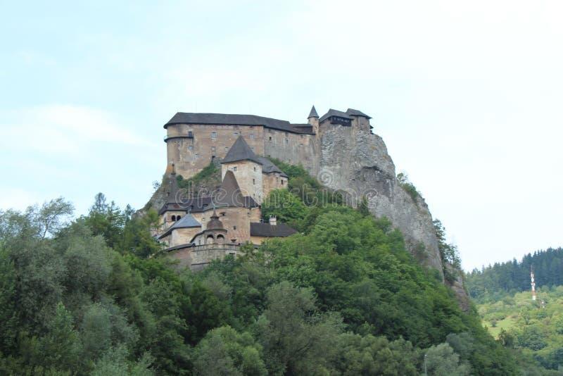 Orava slott, Slovakien royaltyfria foton