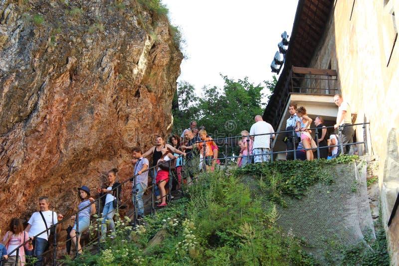 Orava slott, Slovakien fotografering för bildbyråer