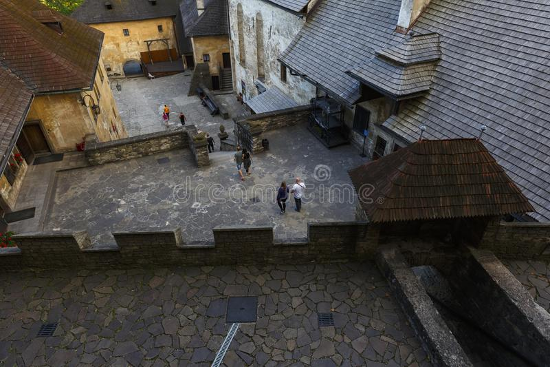 Orava slott, Slovakien royaltyfri foto