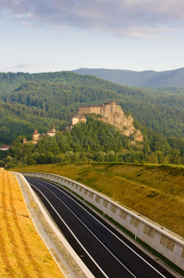 Oravsky Castle, Slovakia royalty free stock images