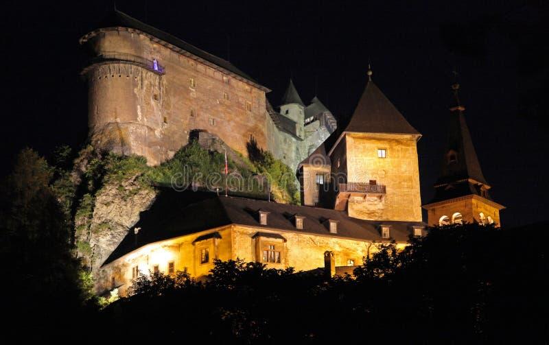 Oravsky-hrad - Orava-Schloss, Slowakei lizenzfreie stockfotografie