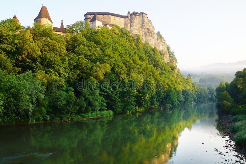 Oravsky hrad. Slovakia. Oravsky hrad over Orava river. Slovakia stock image