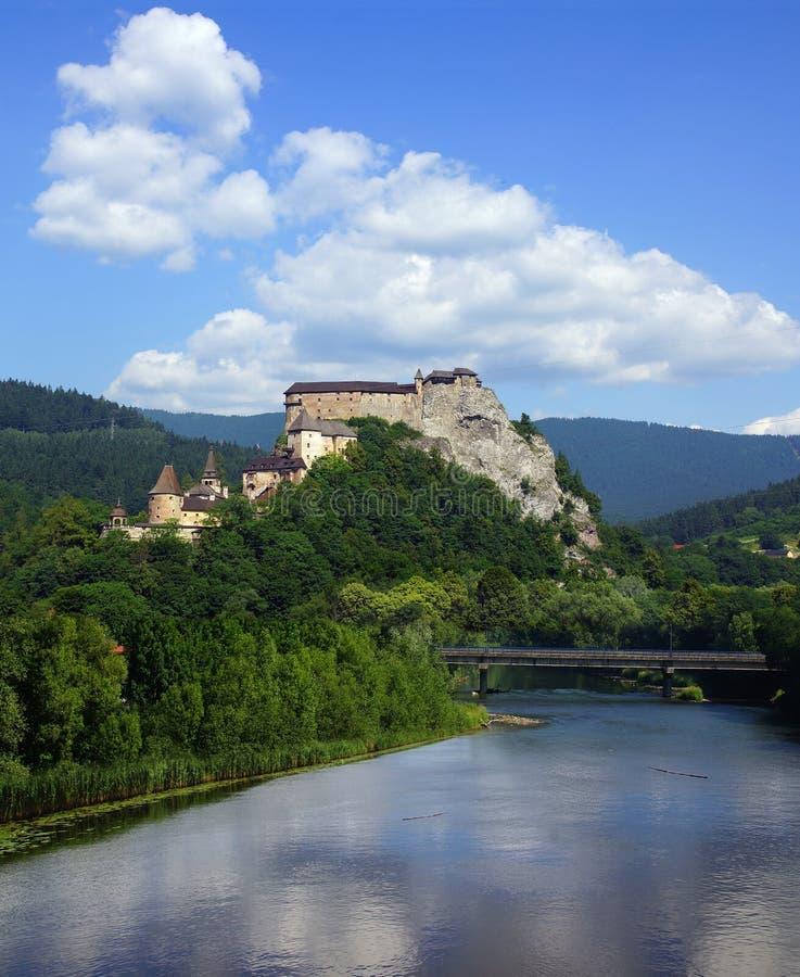 Oravsky hrad. Slovakia. Oravsky hrad over Orava river. Slovakia royalty free stock images
