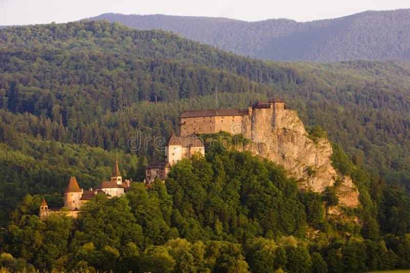oravsky slott royaltyfri bild