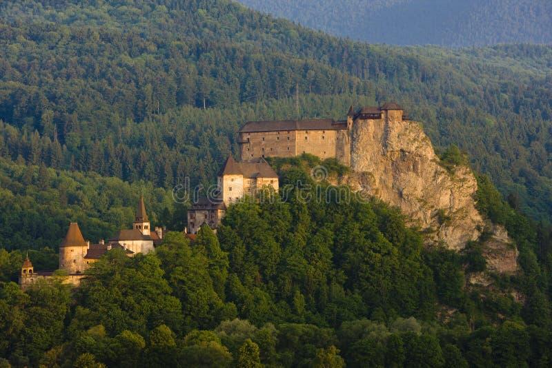Oravsky slott, Slovakien arkivfoton