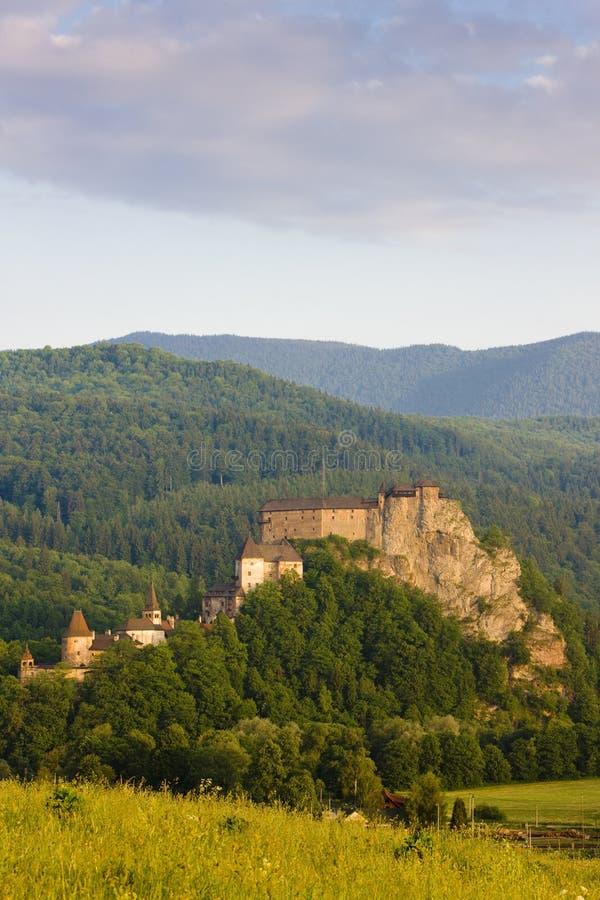 Oravsky slott, Slovakien royaltyfri bild
