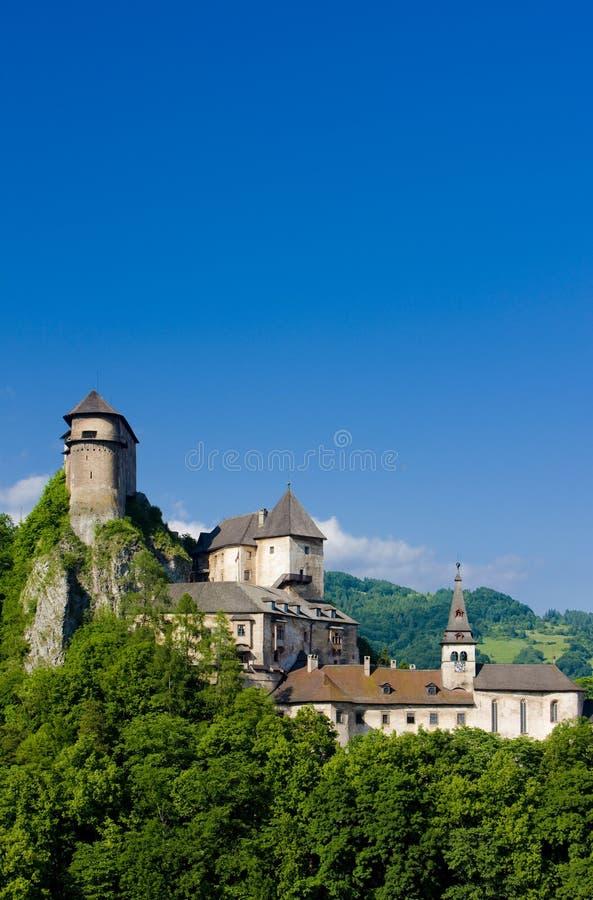 Oravsky slott, Slovakien arkivbilder