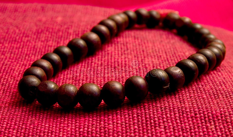 Orayer beads wooden stock images