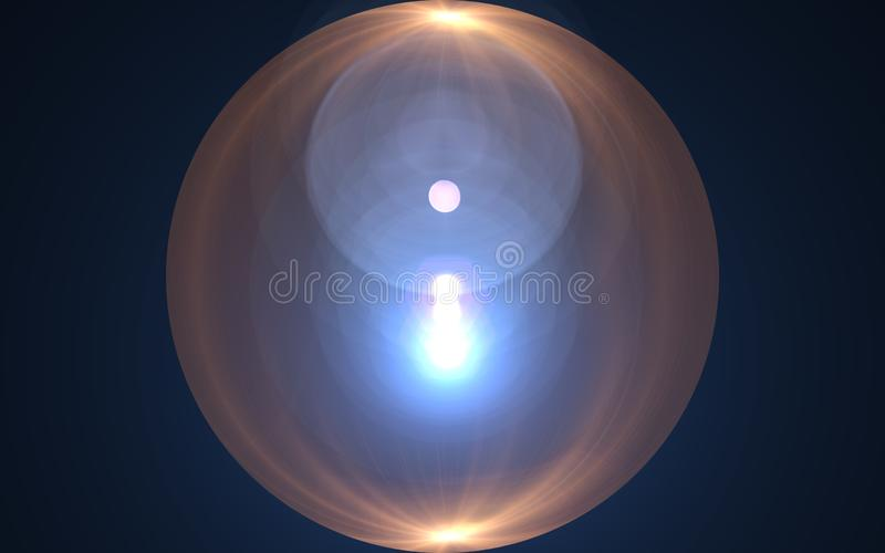 Orb light flare.Abstract sun burst with digital lens flare background.White flare effect on vertical. vector illustration