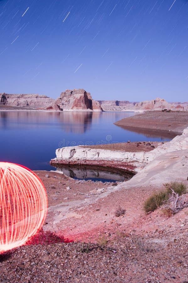Orb på sjön Powell - ljus målningbild fotografering för bildbyråer