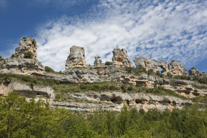 Orbaneja Del Castillo, Burgos lizenzfreie stockfotos