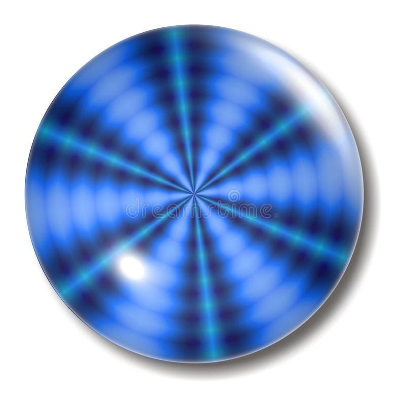 Orbe azul del botón de la ondulación ilustración del vector