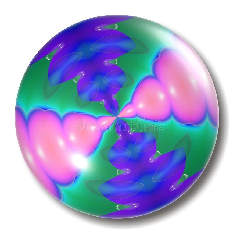 Orbe del botón del chicle de globo ilustración del vector