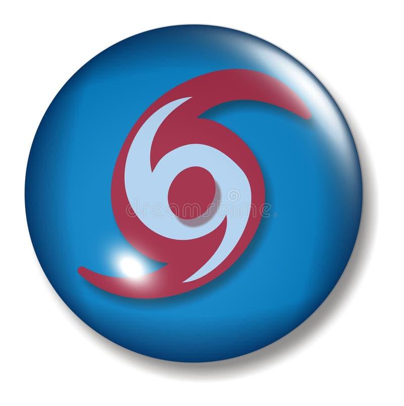 Orbe del botón del huracán ilustración del vector