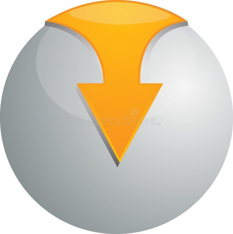 orbe del vector 3D stock de ilustración