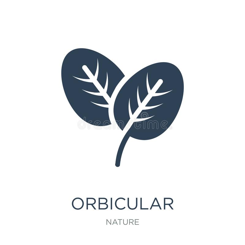 Orbicular icon in trendy design style. orbicular icon isolated on white background. orbicular vector icon simple and modern flat. Symbol for web site, mobile stock illustration