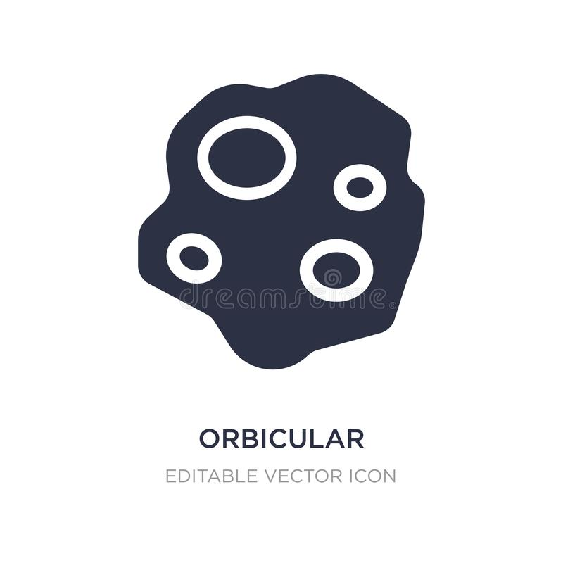 orbicular icon on white background. Simple element illustration from Nature concept vector illustration