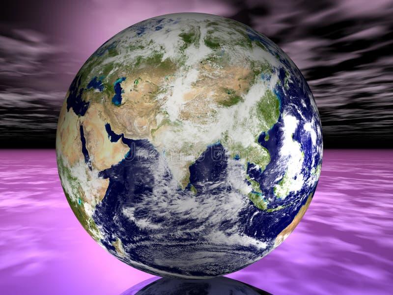orbitą satelity royalty ilustracja