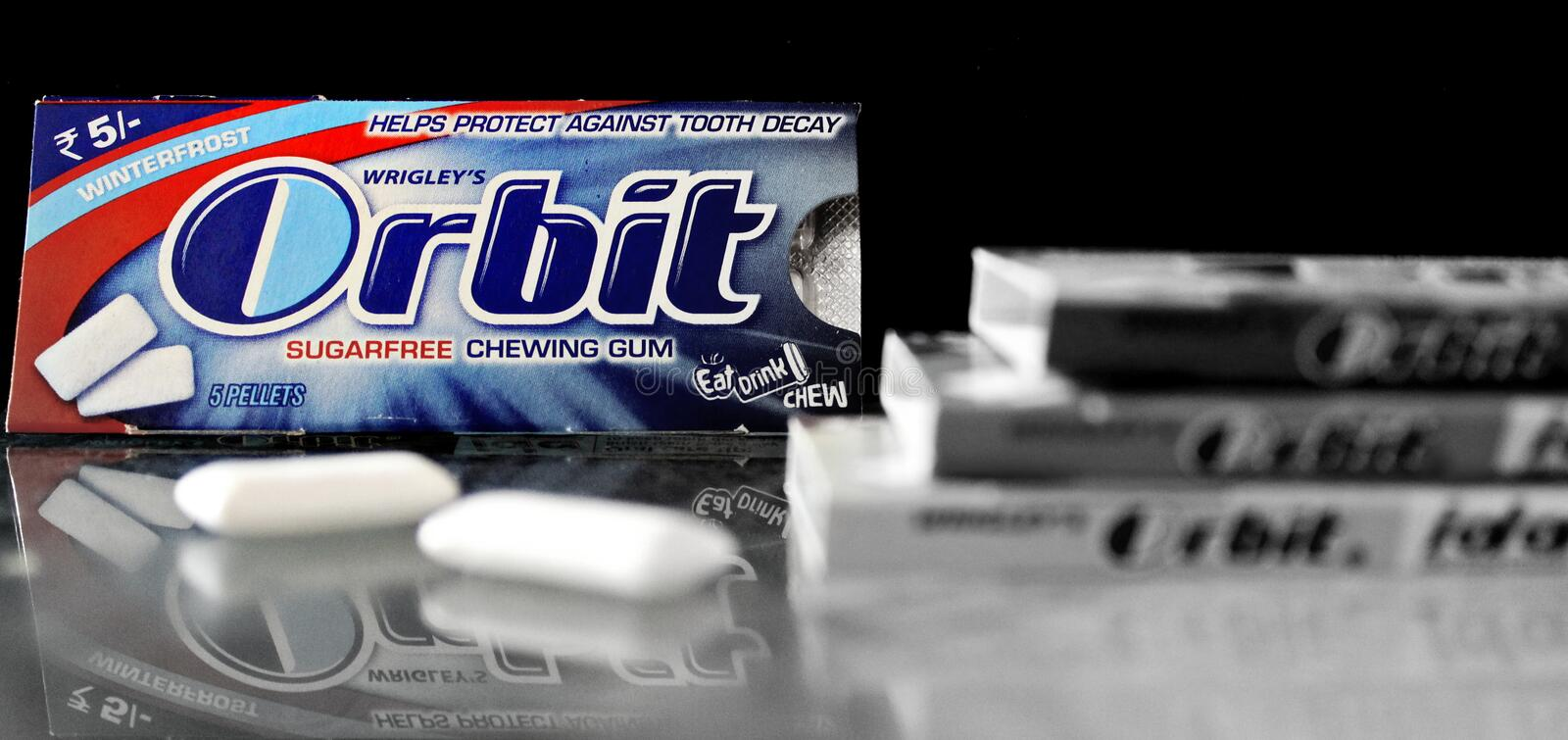 Orbit Chewing gum royalty free stock photography
