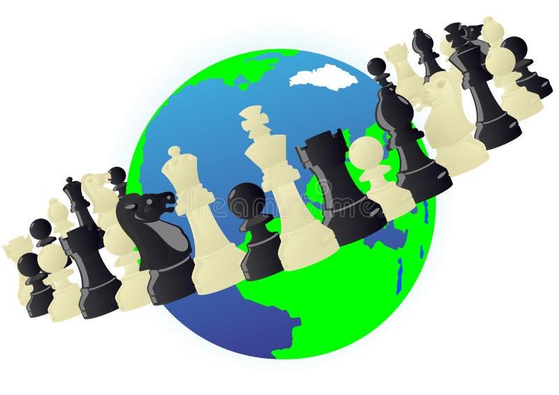 Orbita di scacchi royalty illustrazione gratis