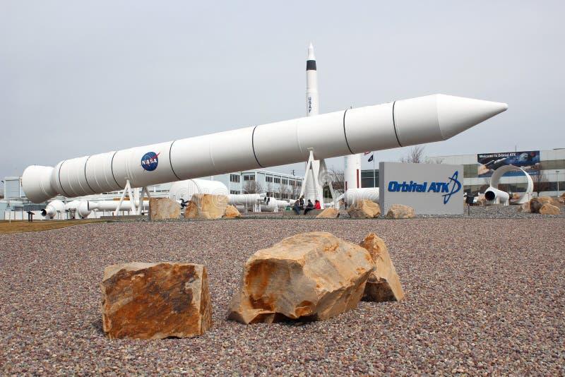 Orbitaal ATK-Voorgebergte Rocket Garden royalty-vrije stock fotografie